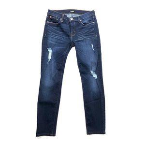 Hudson jeans skinny distressed pants medium wash